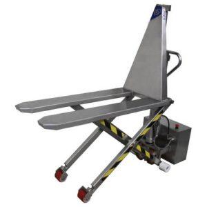 transpalette électrique haute levée acier